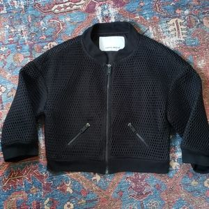 Frankie Morello Cropped Bomber Jacket size small